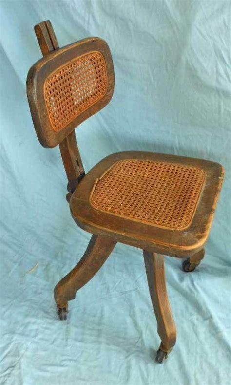 antique wood desk chair task office antique adjustable