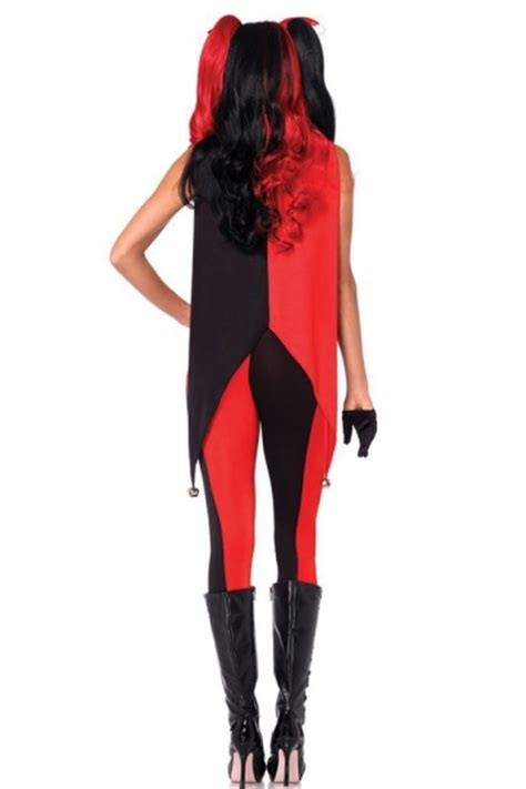 harley quinn jumpsuit costume womens color block harley quinn jumpsuit costume