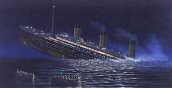 A Real Picture Of The Titanic Sinking by Felixstowe Dockers On 105th Anniversary Of Titanic