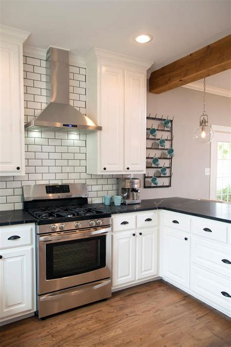 Kitchen Ideas White Cabinets Black Countertop Kitchen