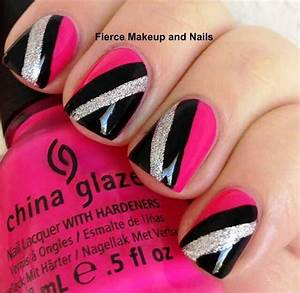 Be Strong and Fearless: Top 55 Pink and Black Nails