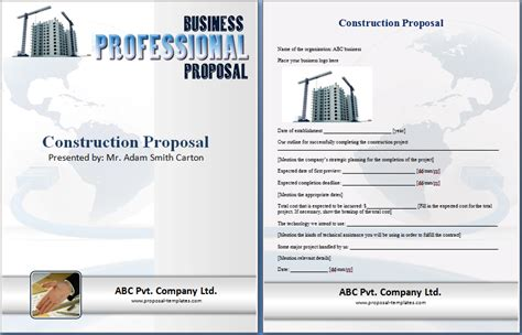 Formal Construction Proposal Template