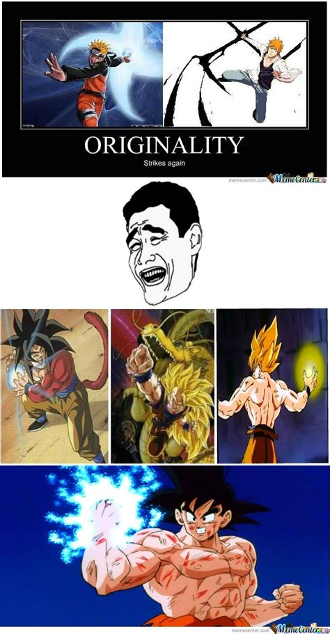 Naruto Vs Goku Meme - originality by michael chane meme center