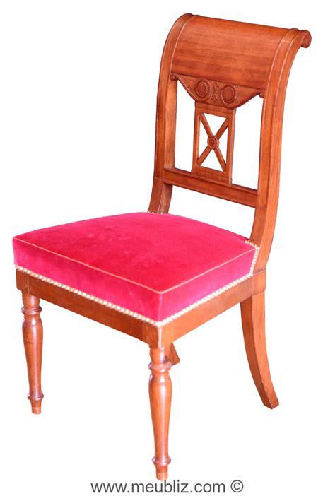 chaise directoire chaise de style directoire courbes sobres