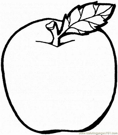 Apple Apples Coloring Printable Pages Colouring Fruits