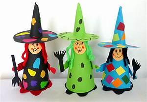 Basteln Halloween Mit Kindern : hexe aus tonpapier halloween basteln meine enkel und ich ~ Yasmunasinghe.com Haus und Dekorationen