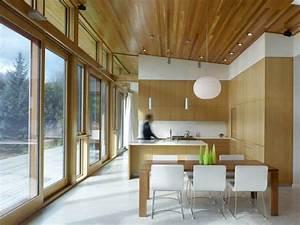 decoration interieur maison bois With idee maison plain pied 7 maison en bois construite en bretagne au design interieur