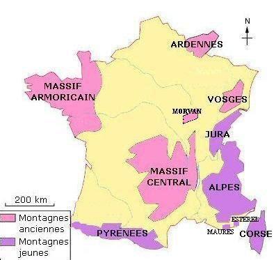 Carte De La Vierge Avec Les Massifs Montagneux by Les Massifs De