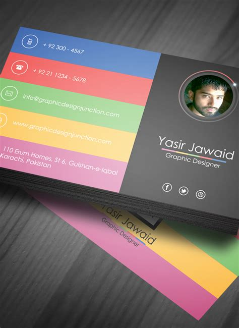 modern business card template psd png