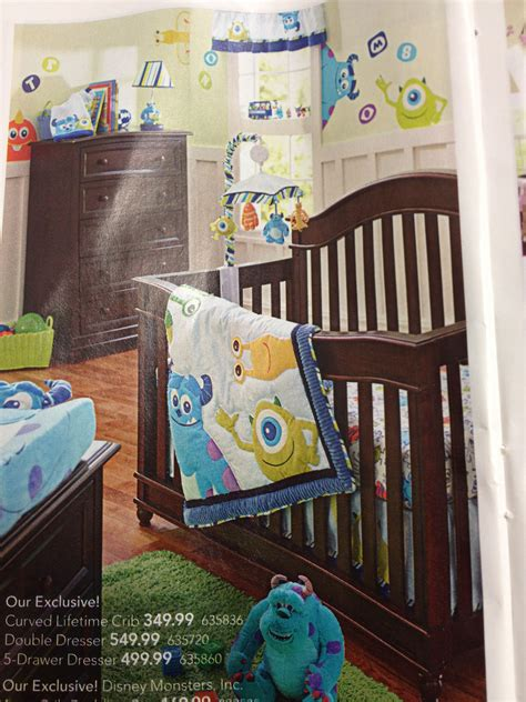 monsters inc crib bedding monsters inc bedding for baby nursery