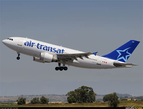 c gpat air transat airbus a310 at rome fiumicino photo id 220662 airplane pictures net