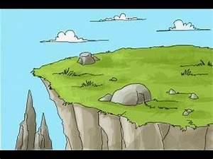 How to draw a cliff - YouTube