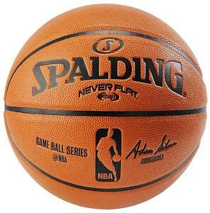 spalding nba  flat game ball official size