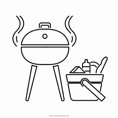Coloring Barbecue Grill Pages Printable Getcolorings Colorings