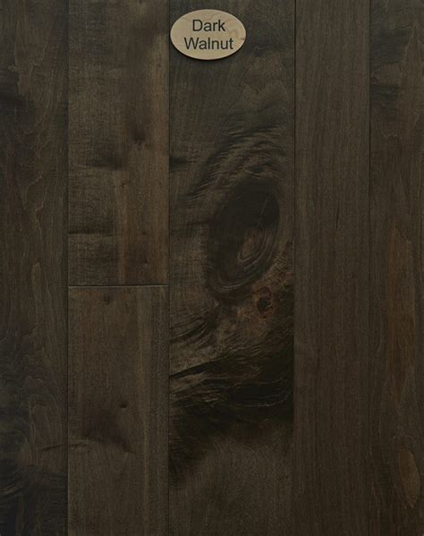 Hard Maple, Natural Character, Dark Walnut Stain   Peachey