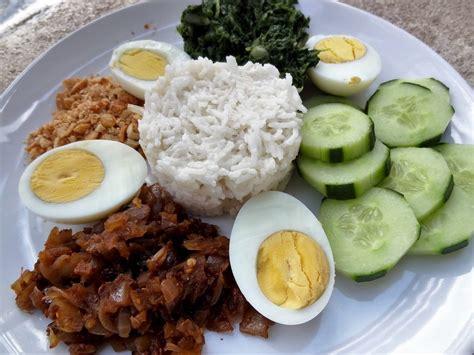 cuisine malaisienne riz à la noix de coco nasi lemak malaisie la