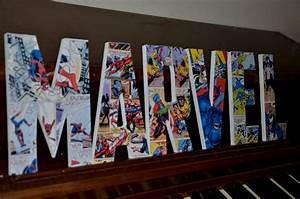 Diy superhero wall decor : Marvel superhero letters superman bedroom