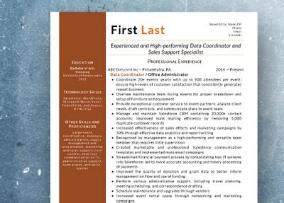 standout resumes llc philadelphia pa resume sles from standout resumes llc