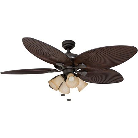 Tropical Ceiling Fans With Lights by 52 Quot Honeywell Palm Island Bronze Tropical Ceiling Fan