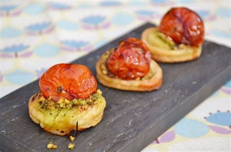 puff pastry canapes ideas balsamic tomato pesto canapés great chefs recipes tomato pesto and pesto