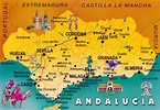 WORLD, COME TO MY HOME!: 0988 SPAIN (Andalusia) - The map ...