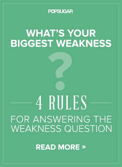 Best Weaknesses For by 4 For Answering The Weakness Question Things To