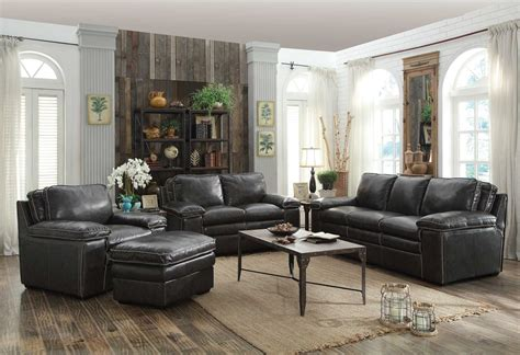 charcoal sofa living room regalvale charcoal living room set from coaster 505841