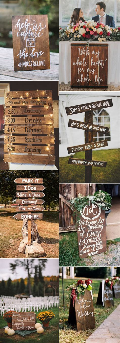 Pretty Budget Friendly Wedding decorating Ideas 30 Easy to Do Rustic Signs