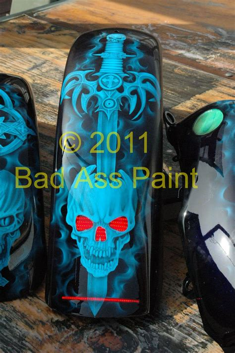 custom paint motorcycles add recessed recessed led tail lights on motorcycle fenders