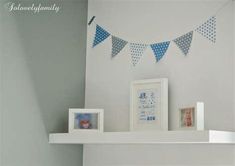 chambre etoile guirlande fanion bleu gris blanc étoile papier chambre
