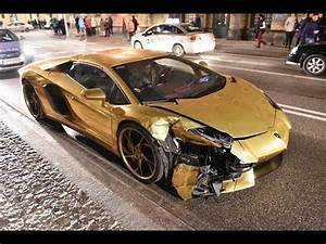 Gold Chrome Lamborghini Aventador Bites The Dust In Poland