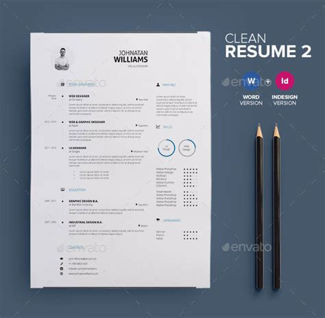 30 best resume template designs 2015 web graphic