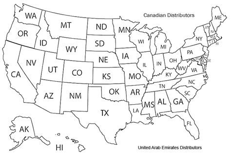 USA Map with States Outline