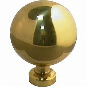 Boule De Rampe D Escalier : boule de rampe boule laiton et laiton poli leroy merlin ~ Melissatoandfro.com Idées de Décoration