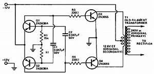 12 Vdc To 240 Vac Inverter