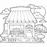 Cake Coloring Candy Sweets Pages Sweet Printable Cakes Surfnetkids sketch template