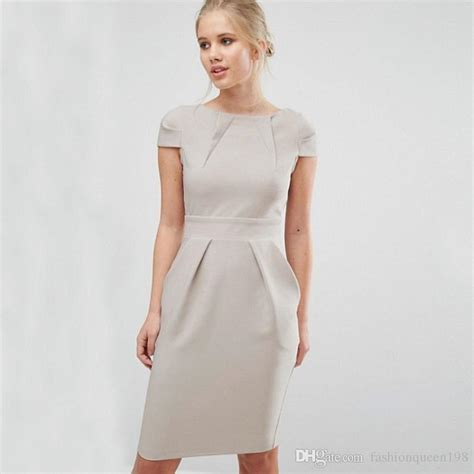 54 inch length cheap formal office dresses for business
