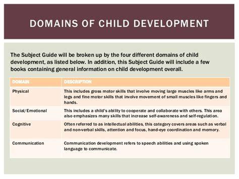 child development subject guide  sarah prokop