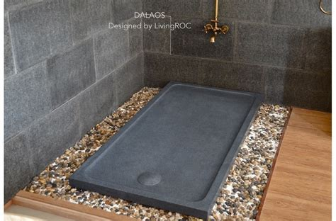 1800x900 Granite Shower Tray Grey Stone   DALAOS