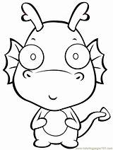 Coloring Dragon Cartoon Pages sketch template
