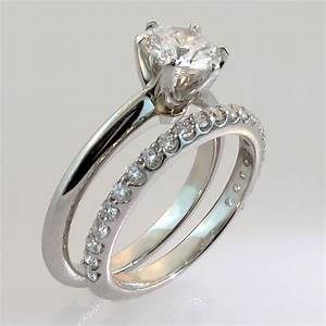 custom wedding rings bridal sets engagement rings With personalized wedding ring sets