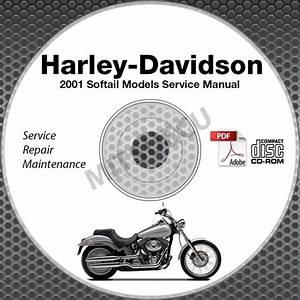 Find 2001 Harley Davidson Softail Fat Boy Springer Service Manual Cd Repair Shop Motorcycle In