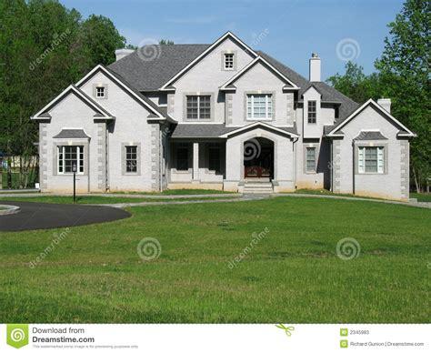 suburban mansion stock  image