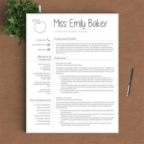 resume template for word pages 1 2 and 3 page