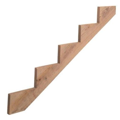 home depot wood stairs 5 step pressure treated wood stair stringer 430198 the home depot