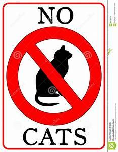No Cats Sign Royalty Free Stock Photos - Image: 6418418