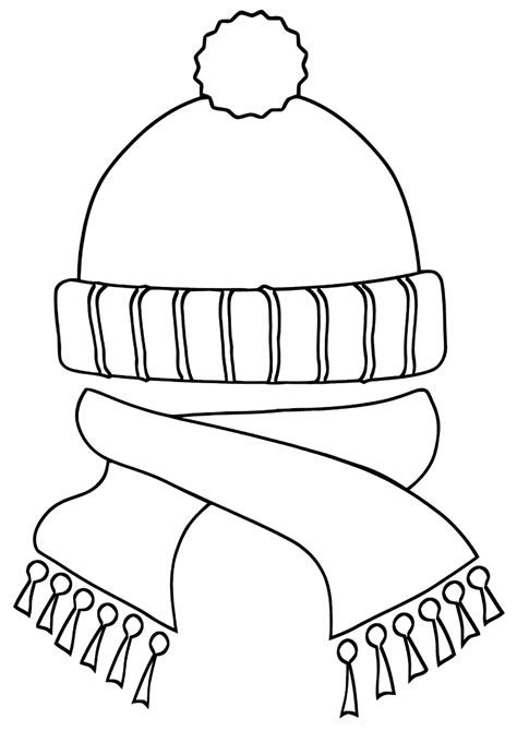Coloring Top by Winter Clothes Coloring Pages To And Print For Free