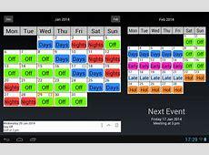 Shift Rota Planner planner template free