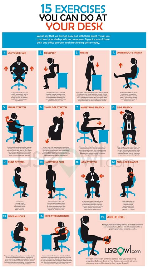 Office Desk Exercises office desk exercises abs workout circuit office