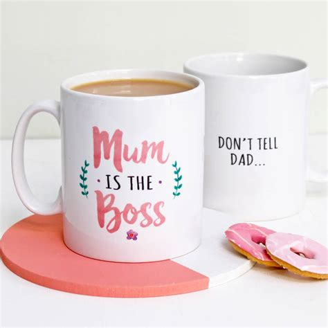 Get it while it's hot! 'mum Is The Boss' Mug By Martha Brook   notonthehighstreet.com
